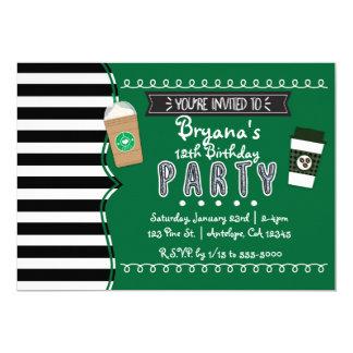 Frap Coffee Birthday Party Teen Invitations