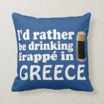 Frappé en Grecia Cojín Decorativo