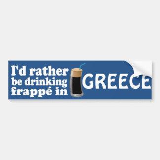 Frappé in Greece Car Bumper Sticker