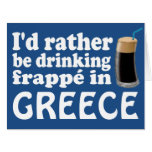 Frappé in Greece Large Greeting Card