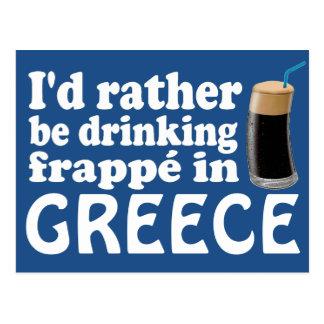 Frappé in Greece Postcard