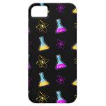 Frasco amarillo púrpura de la ciencia iPhone 5 protector
