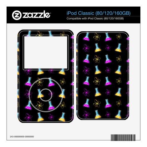 Frasco amarillo púrpura de la ciencia calcomanía para iPod