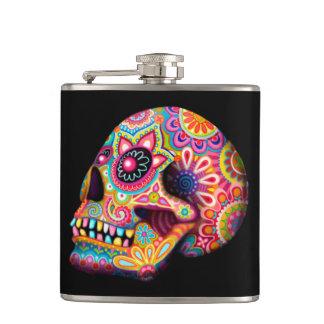 Frasco colorido del cráneo del azúcar - día del ar