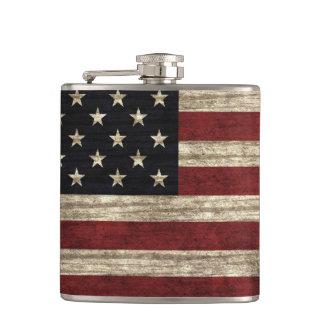 Frasco de la bandera americana petaca