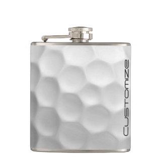 Frasco de la pelota de golf con un nombre adaptabl