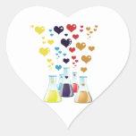 Frasco de la química, corazones - púrpura amarilla