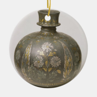 Frasco de Mughal (trabajo de metalistería) Adorno Redondo De Cerámica