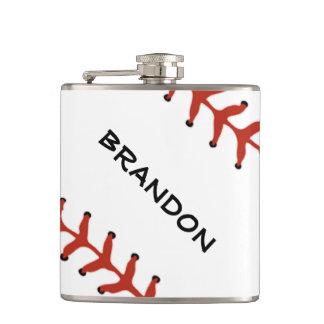 Frasco del diseño del softball del béisbol petaca