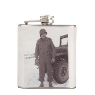 Frasco del soldado de la fotografía WWII del vinta