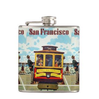 Frasco del viaje del vintage de San Francisco los  Petaca