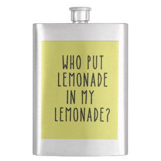 Frasco divertido con el texto de la limonada petaca