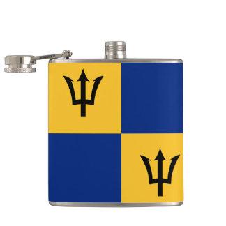 Frasco envuelto modelo de la bandera de Barbados Petaca