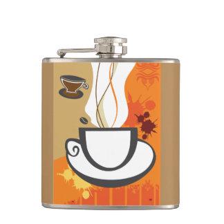 Frasco envuelto vinilo de la taza de café
