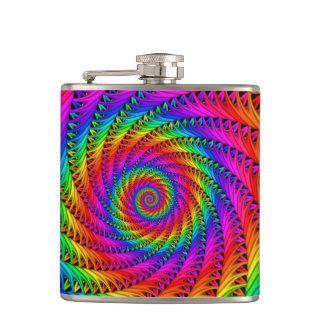 Frasco espiral del arco iris petaca