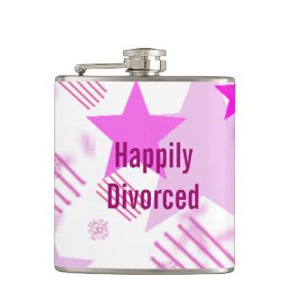 Frasco feliz divorciado petaca