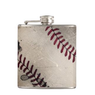 Frasco fresco del béisbol del Grunge del vintage Petaca