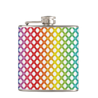 Frasco lesbiano gay del arco iris del orgullo de petaca