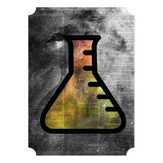 """Frasco mágico de la alquimia sobre la página de invitación 5"""" x 7"""""""