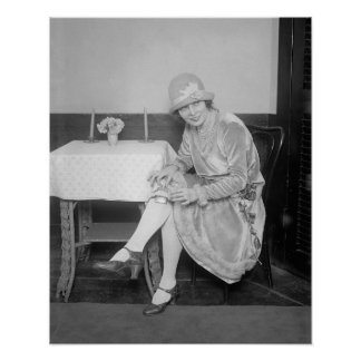 Frasco ocultado en Garter, 1926. Foto del vintage Póster