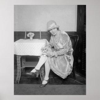 Frasco ocultado en Garter, 1926 Póster