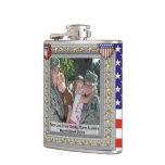 frasco patriótico militar del personalizable del v
