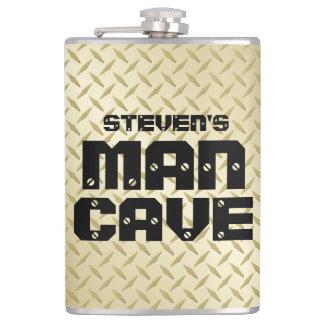 Frasco personalizado de la cueva del hombre con la petaca
