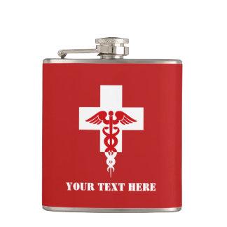 Frasco profesional médico de encargo petaca