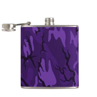 Frasco púrpura oscuro de Camo Petaca