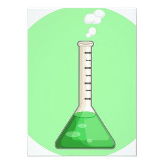 """Frasco químico 2 de Laboratorium Invitación 5.5"""" X 7.5"""""""