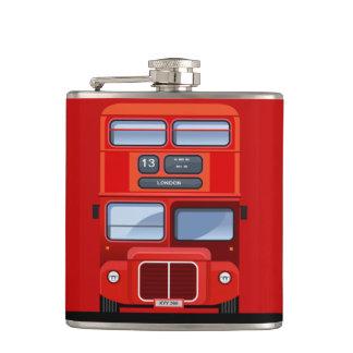 Frasco rojo del autobús del autobús de dos pisos d