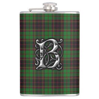 Frasco viejo de Escocia del tartán de Buchan del Petaca