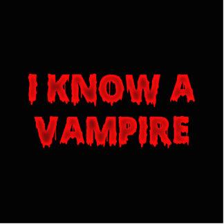 Frase de Halloween conozco a un vampiro Fotoescultura Vertical