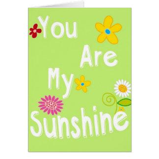 Frase de motivación de la tipografía - verde lima tarjeta de felicitación