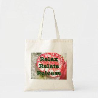Frase de motivación e inspirada bolsa tela barata
