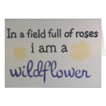 Frase del Wildflower Tarjeta