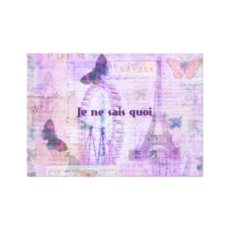 Frase francesa del quoi de los sais del ne de Je - Impresiones En Lienzo Estiradas