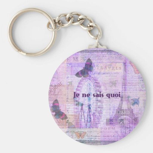 Frase francesa del quoi de los sais del ne de Je - Llavero Personalizado