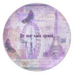 Frase francesa del quoi de los sais del ne de Je - Platos Para Fiestas