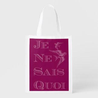 """Frase francesa """"quoi de los sais del ne del je"""" bolsas para la compra"""