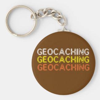 Fraseología simple de Geocaching Llavero Redondo Tipo Pin