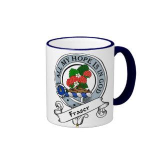 Fraser Clan Badge Ringer Mug