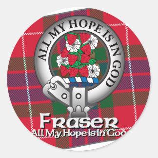Fraser Clan Classic Round Sticker