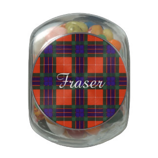Fraser clan Plaid Scottish tartan Glass Jar