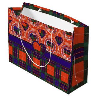 Fraser clan Plaid Scottish tartan Large Gift Bag