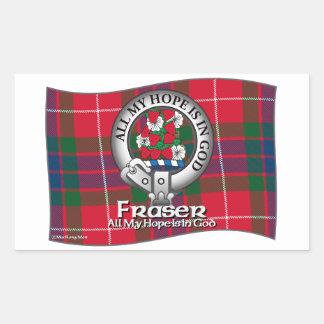 Fraser Clan Rectangular Sticker