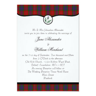 Fraser Clan Tartan Plaid & Thistle Wedding Invites