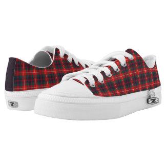 Fraser de la lona roja y azul moderna del tartán zapatillas