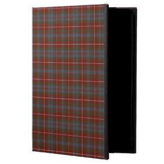 Fraser de la tela escocesa roja y azul del tartán