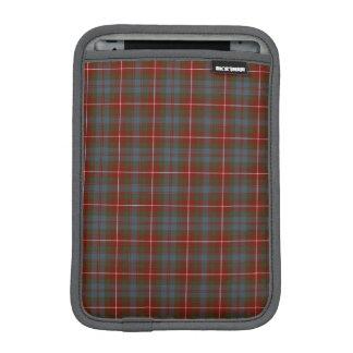 Fraser de la tela escocesa rojo oscuro del tartán fundas iPad mini